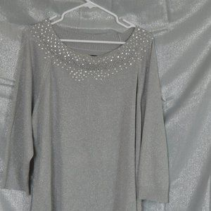 Avenue Sequins Silver Sweater